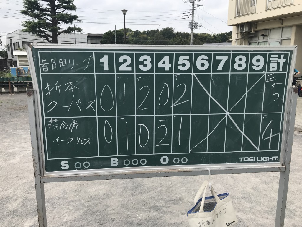 20190914 VS 荏田南イーグルスA2