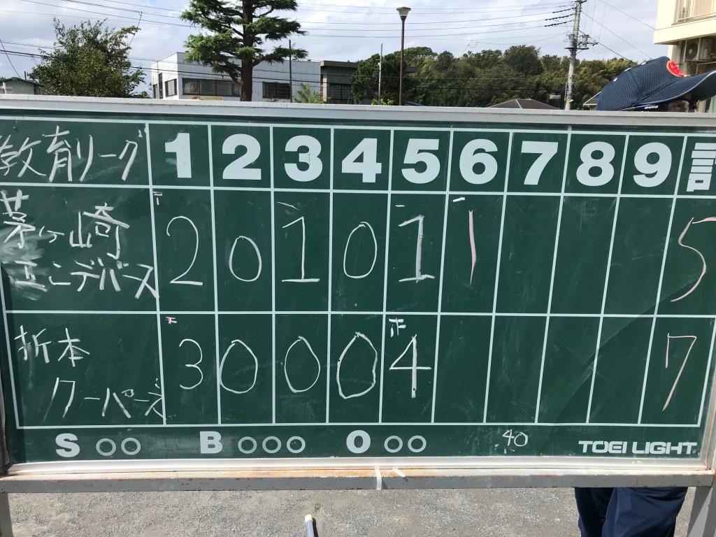 20190923 VS 茅ヶ崎エンデバーズ
